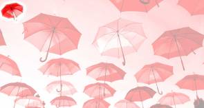 Red Umbrella Banner by Click Save